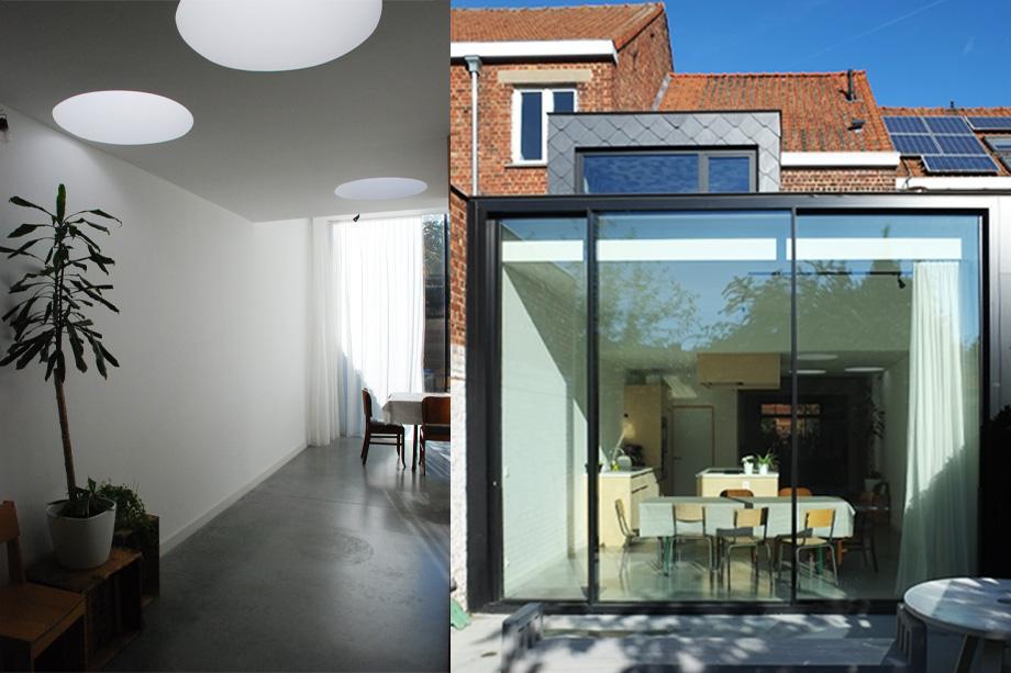 beeld van architectuur Simon en Lotte